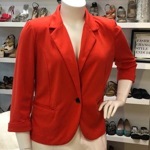 Catherine Malandreno Orange Long Sleeved Blazer